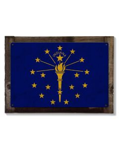 Indiana State Flag, Honest-to-Goodness Indiana, Metal Sign, Optional Rustic Wood Frame, Wall Decor, Wall Art,  FREE SHIPPING!