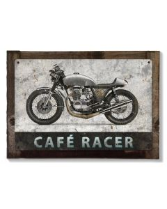 Cafe Racer, Honda, Motorcycle, METAL Sign, Optional Reclaimed BarnWood Frame, American Steel, Wall Decor, Wall Art, Vintage