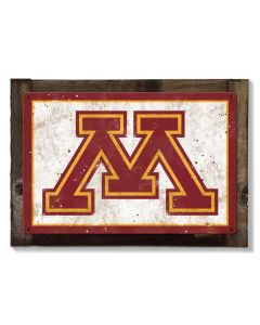 Minnesota Golden Gophers, Wall Art, Rustic Metal Sign, Optional Rustic Wood Frame, College Teams, Mascots, and Sports, Free Shipping
