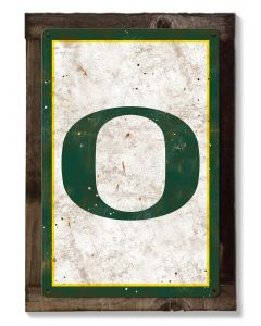 Oregon Ducks Wall Art, Rustic Metal Sign, Optional Rustic Wood Frame, College Teams, Mascots, and Sports, Free Shipping