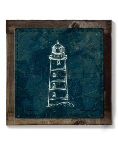 Light House, Nautical Theme Art, METAL Sign, Optional Reclaimed BarnWood Frame, American Steel, Wall Decor, Wall Art, Vintage, FREE SHIPPING