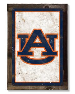 Auburn Tigers, Wall Art, Rustic Metal Sign, Optional Rustic Wood Frame, College Teams, Mascots, and Sports, Free Shipping