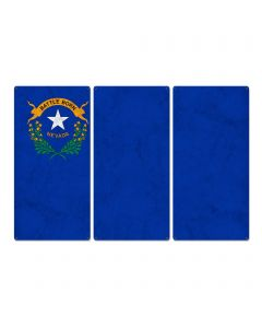"Nevada State Flag,  Battle Born, Triptych Metal Sign, Wall Decor, Contemporary Art, Wall Art, Vintage, 54""x36"""