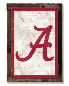 Alabama Crimson Tide Wall Art, Rustic Metal Sign, Optional Rustic Wood Frame, College Teams, Mascots, and Sports, Free Shipping