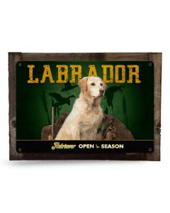 "Labrador Retriever, Yellow Lab, Black Lab and Chocolate Lab Metal Sign 18""x12"""