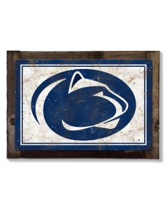 Penn State Nittany Lions Wall Art, Rustic Metal Sign, Optional Rustic Wood Frame, College Teams, Mascots, and Sports, Free Shipping