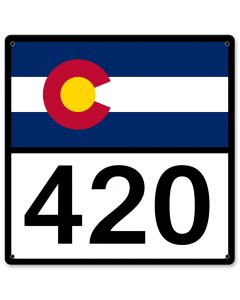 "Colorado State Highway Sign 420 12"" X 12"""