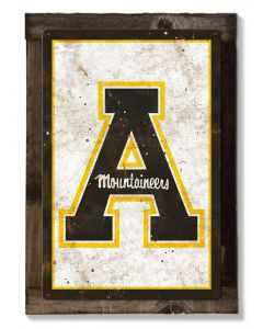 Appalachian State Mountaineers, Wall Art, Rustic Metal Sign, Optional Rustic Wood Frame, College Teams, Mascots, and Sports, Free Shipping