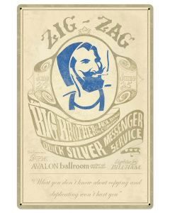Zig-Zag Man rolling papers Stanley Mouse and Alton Kelly Metal Sign