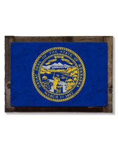 "Nebraska State Flag, Nebraska Nice ""The Good Life"", Metal Sign, Optional Rustic Wood Frame, Wall Decor, Wall Art, FREE SHIPPING!"