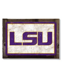 Tigers LSU Wall Art, Rustic Metal Sign, Optional Rustic Wood Frame, College Teams, Mascots, and Sports, Free Shipping