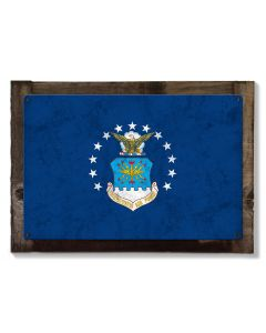 United States Air Force Flag, Armed Forces, Metal Sign, Optional Rustic Wood Frame, Wall Decor, Wall Art, Vintage, Rustic