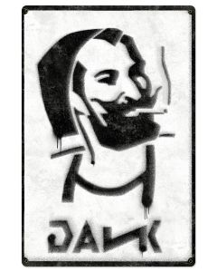 Dank Zig-Zag Man rolling papers Spray Art Metal Sign