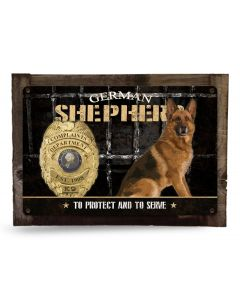 "German Shepherd Complaints Department K-9 Police Dog Metal Sign, Wall Art, Wall Decor 18"" x 12"""