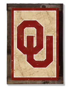 Oklahoma Sooners Wall Art, Rustic Metal Sign, Optional Rustic Wood Frame, College Teams, Mascots, and Sports, Free Shipping
