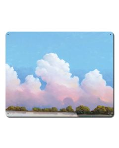 River And Sky Meet The Clouds Vintage Sign, Barn and Country, Metal Sign, Wall Art, 15 X 12 Inches