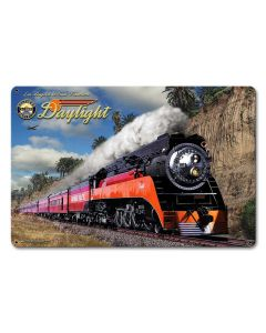 Daylight Vintage Sign, Trains, Metal Sign, Wall Art, 18 X 12 Inches