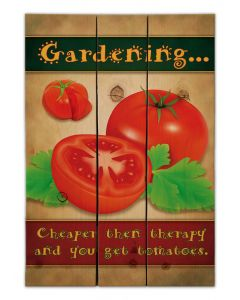 Gardening Cheaper Than Therapy Vintage Sign, Wood Signs, Metal Sign, Wall Art, 14 X 20 Inches