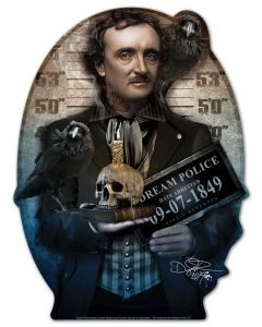 DIG008 - POE, Patriotic, Metal Sign, Wall Art, 15 X 20 Inches
