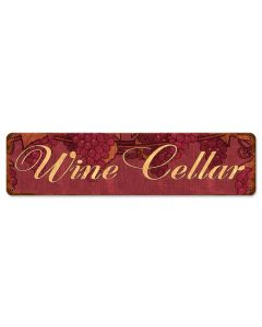 Wine Cellar Vintage Sign, Bar and Alcohol , Metal Sign, Wall Art, 20 X 5 Inches