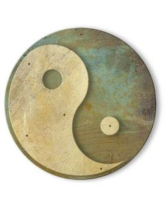 Yin Yang 3-D Vintage Sign, New Products, Metal Sign, Wall Art, 38 X 38 Inches
