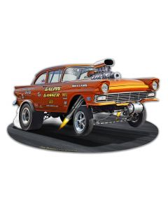 1957 Ford Gasser Vintage Sign, New Products, Metal Sign, Wall Art, 18 X 11 Inches