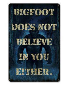 PTSB286 - Big Foot Unbeliever, Halloween, Metal Sign, Wall Art, 12 X 18 Inches