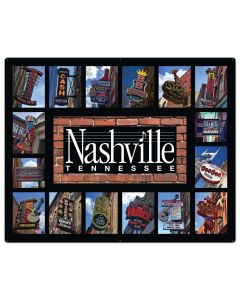 Nashville Signs, Home & Garden, Metal Sign, Wall Art, 50 X 40 Inches