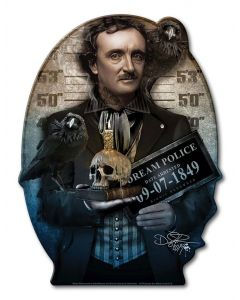 DIG021 - POE, Patriotic, Metal Sign, Wall Art, 9 X 12 Inches
