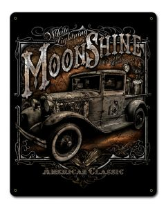 Moonshine Truck Vintage Sign, Bar and Alcohol , Metal Sign, Wall Art, 12 X 15 Inches