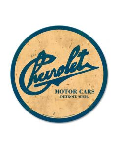 Chevrolet Motor Cars, GMC, Metal Sign, Wall Art, 14 X 14 Inches