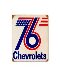 76 Chevrolets, GMC, Metal Sign, Wall Art, 12 X 15 Inches