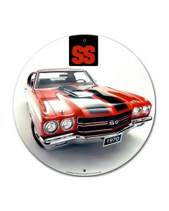 1970 Chevrolet Chevelle, GMC, Metal Sign, Wall Art, 28 X 28 Inches