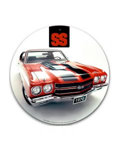 Chevelle Ss, GMC, Metal Sign, Wall Art, 14 X 14 Inches
