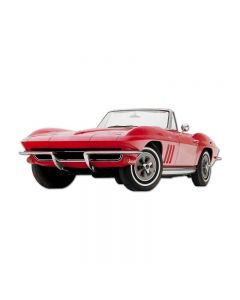 1964 Corvette Convertible, GMC, Metal Sign, Wall Art, 28 X 12 Inches