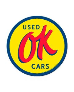 Ok Used Cars, GMC, Metal Sign, Wall Art, 42 X 42 Inches