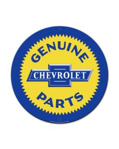Genuine Chevy Parts, GMC, Metal Sign, Wall Art, 23 X 23 Inches