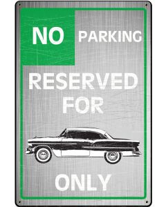 Bel Air Owners Parking, GMC, Metal Sign, Wall Art, 18 X 12 Inches