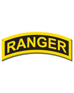 ARMY RANGER INSIGNIA Vintage Sign, Military, Metal Sign, Wall Art, 17 X 7 Inches