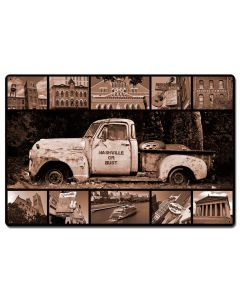 AIF160 - NASHVILLE OR BUST TRUCK, Home & Garden, Metal Sign, Wall Art, 24 X 16 Inches