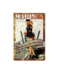 MARINES, Military, Metal Sign, Wall Art, 12 X 18 Inches