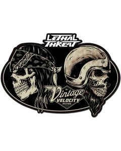 LETH197 - LETHAL THREAT VINTAGE VELOCITY, Man Cave, Metal Sign, Wall Art, 22 X 14 Inches