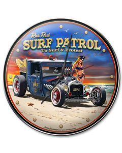 1929 Rat Rod Surf Patrol, Automotive, Metal Sign, Wall Art, 14 X 14 Inches