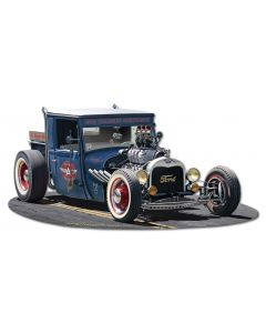 1929 Rat Rod Service Cutout Vintage Sign, Automotive, Metal Sign, Wall Art, 30 X 15 Inches