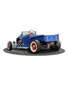 1929 Rod Pick-up Cutout Vintage Sign, Automotive, Metal Sign, Wall Art, 18 X 8 Inches