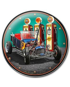 1922 T Bucket Fillup, Automotive, Metal Sign, Wall Art, 14 X 14 Inches