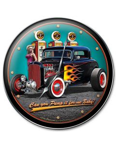 1932 Deuce Coupe Fillup, Automotive, Metal Sign, Wall Art, 14 X 14 Inches