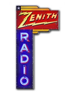 1936 Zenith Radio Sign Vintage Sign, Automotive, Metal Sign, Wall Art, 9 X 17 Inches