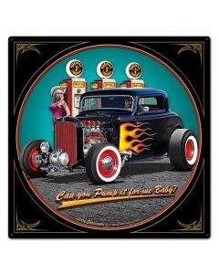 1932 Deuce Coupe Fill-up Vintage Sign, Automotive, Metal Sign, Wall Art, 24 X 24 Inches