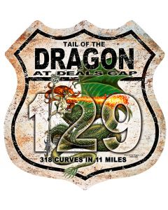 DRAGON LADY ROAD SIGN, Ocean and Beach, Metal Sign, Wall Art, 15 X 15 Inches